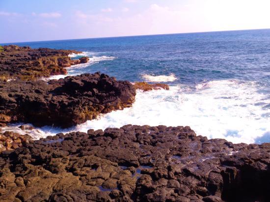 Poipu Beach Park: lava and waves near the beach- gorgeous