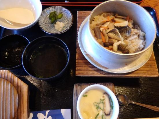 Ehime Prefecture, Japonia: 釜飯、茶わん蒸し、吸い物