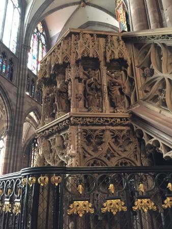 Domkirken Notre Dame de Strasbourg: a clock inside