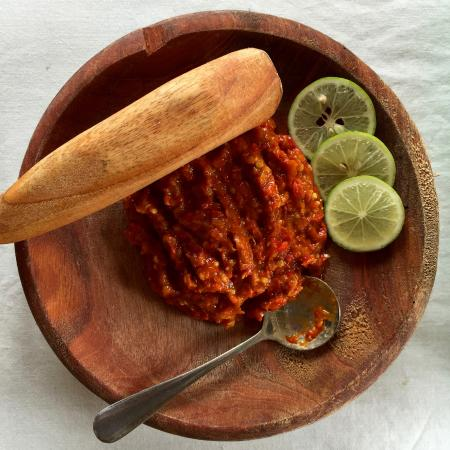 Telunas Resorts - Telunas Beach Resort: Local spicy paste with lunch.