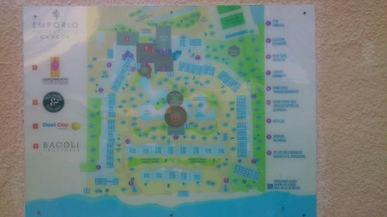on cancun map