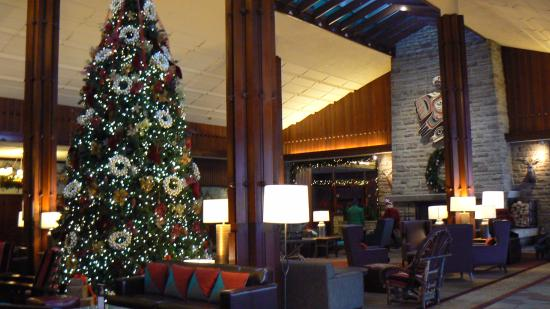 fairmont jasper park lodge christmas decorations everywhere