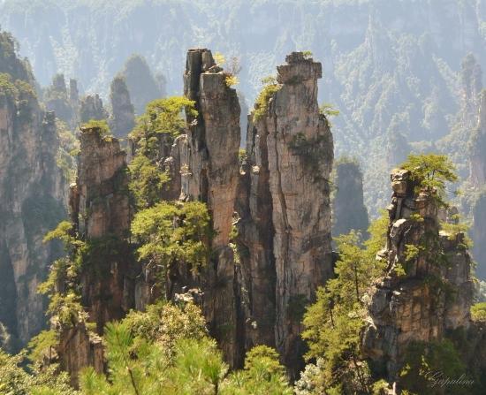 Tianzi Mountain Clouds
