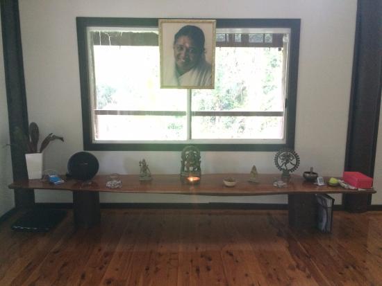 Diwan, Australien: Temple altar (yoga area)