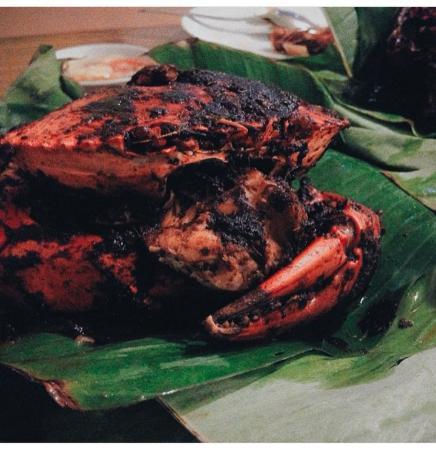 Rasane Sea Food: Kepiting asap jumbo