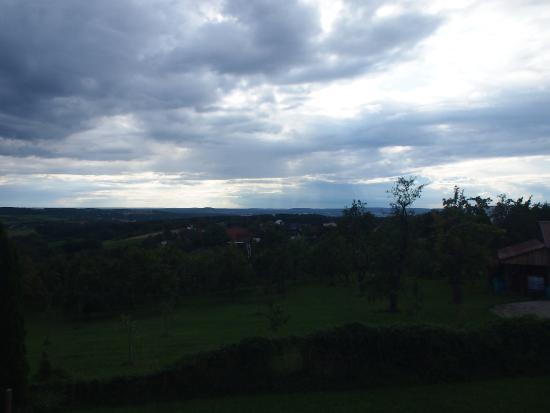 Wiesenthau, Deutschland: Grandioser Blick von der Terrasse