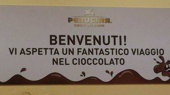 Perugina Chocolate Factory: Benvenuti