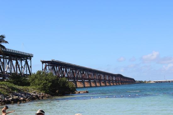Bahia Honda State Park And Beach View Of Old Bridge From