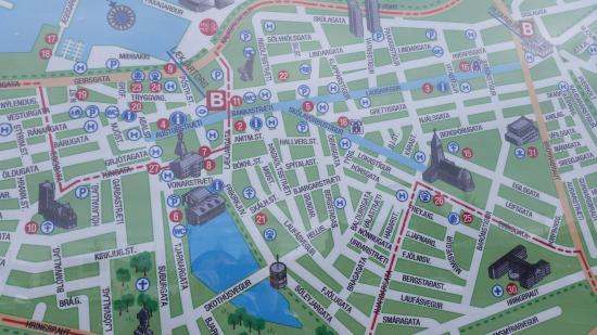 Touriist Map Picture Of Hallgrimskirkja Reykjavik TripAdvisor - Reykjavík map