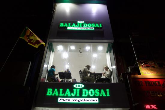 Balaji Dosai: Top Floor with open glass view of the road