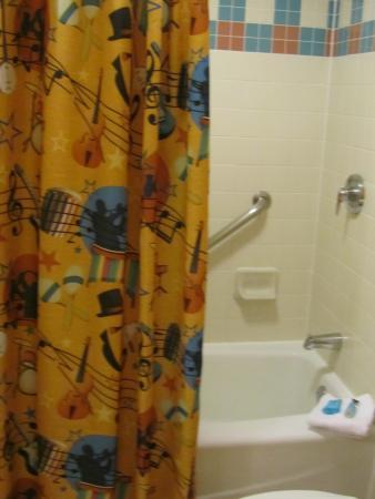 Disneys All Star Music Resort Related Designs On Shower Curtain