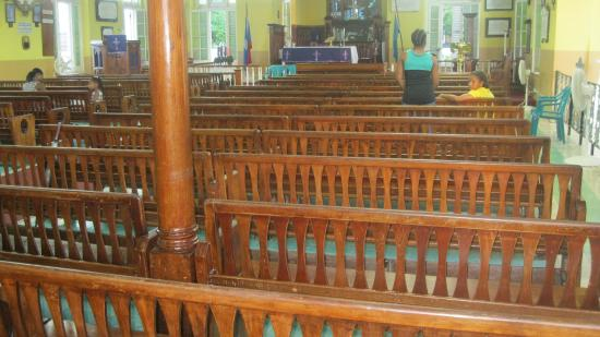 St John's Cathedral: Local mahogany woodwork