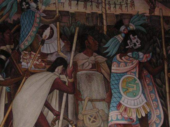 Mural picture of museo mural diego rivera mexico city for Diego rivera s mural