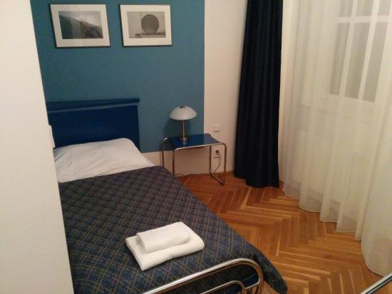 Axa Hotel Single Room With Bed Pretty Small
