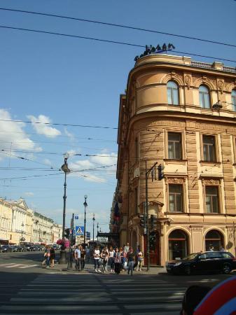 Radisson Royal Hotel, St.Petersburg: Hotel Radisson visto da rua