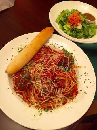Versailles, KY: Delicious Spaghetti with homemade meatballs at Addie's Restaurant!