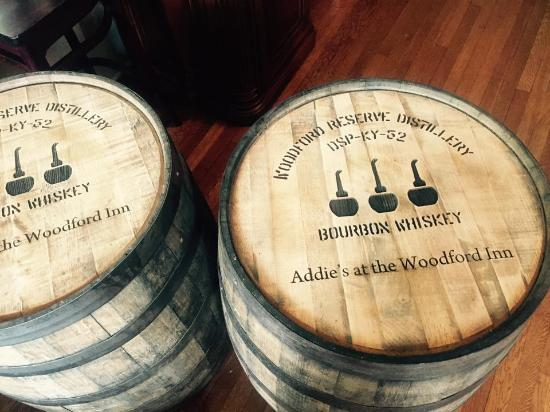 The Woodford Inn : Thank you Woodford Reserve for our awesome custom barrels!