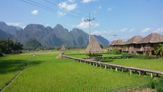 comfortable king bed picture of vieng tara villa vang vieng rh tripadvisor com
