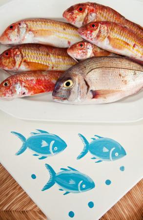 Kionia, Grecja: Φρέσκα Ψάρια