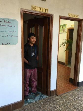 Todos Santos, Guatemala: Young man who helped carry my luggage upstairs to my room.
