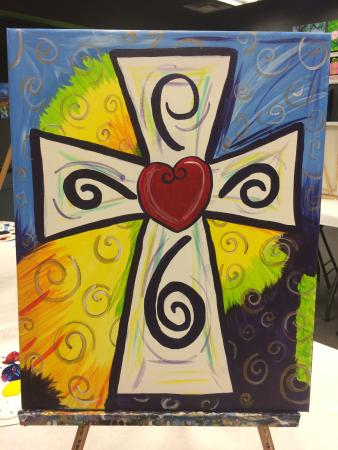 Uptown Art: Colorful Cross