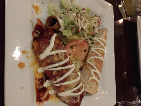 Combination two burrito enchilada flauta picture of for Agave mexican cuisine