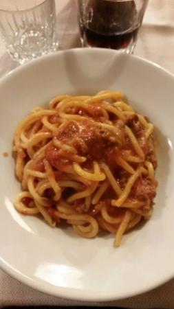 Del Fagioli: Pici al sugo di salsiccia