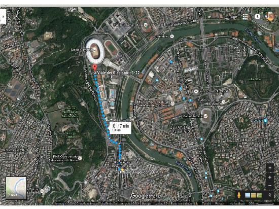 Cartina Roma Stadio Olimpico.Da Roma In Una Stanza Allo Stadio Olimpico Foto Di Roma In Una Stanza Tripadvisor