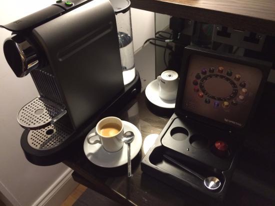 Hotel Indigo London-Paddington: Great espresso from an in-room Nespresso maker.