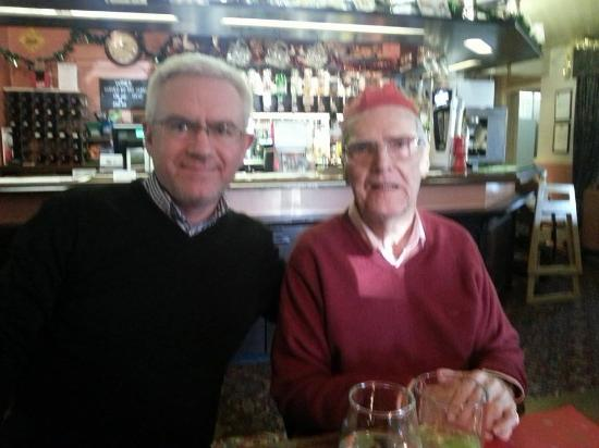 Coombe Bissett, UK: My dad & brother enjoying festivities