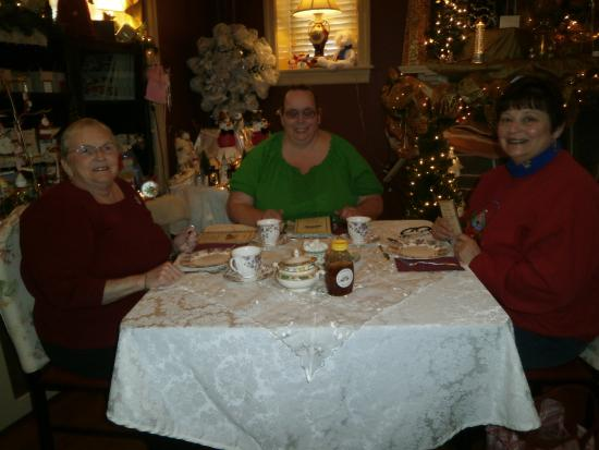 Upper Darby, PA: Friends at Christmas tea.