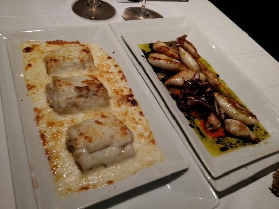 Canelones rellenos de txangurro y chipirones en salsa - Restaurante cuenllas madrid ...