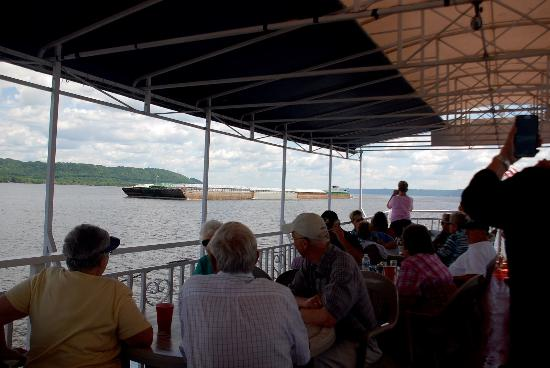 Lake City, MN: Our passengers love to see barge traffic