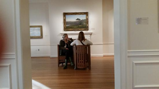The Phillips Collection : There are various places to sit and contemplate the art