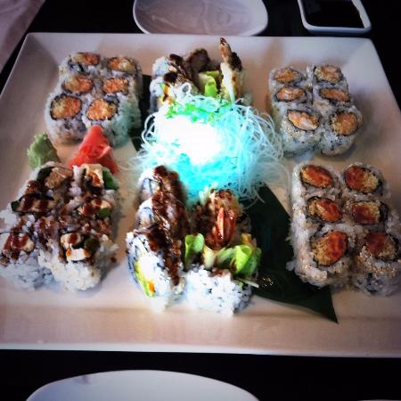 Wasabi: 3 Roll Lunch special - both my husband and my meals!