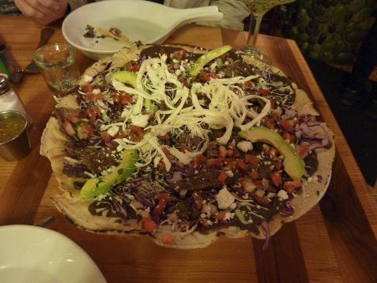 Agave: Mexican Pizza (with cabbage!)