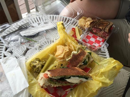 Summerland Key, FL: Mozzarella and Tomato Panini and Hot Corned Beef Sandwich