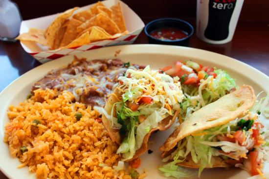 Picante Martin's Mexican: Two item combo with beef and chicken tacos