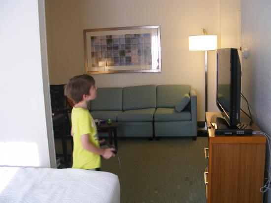 SpringHill Suites Danbury: room, bed area to seating area