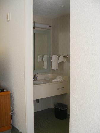 SpringHill Suites Danbury : room, sink area separate from shower and toilet room