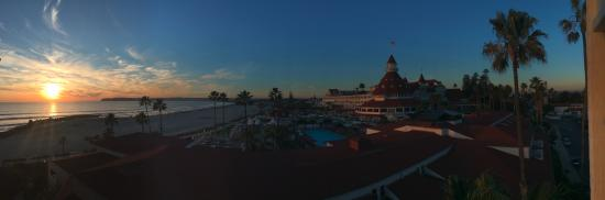 Hotel del Coronado: Sunset from our room
