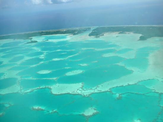 Tuamotu Takımadaları, Fransız Polinezyası: vue aerienne
