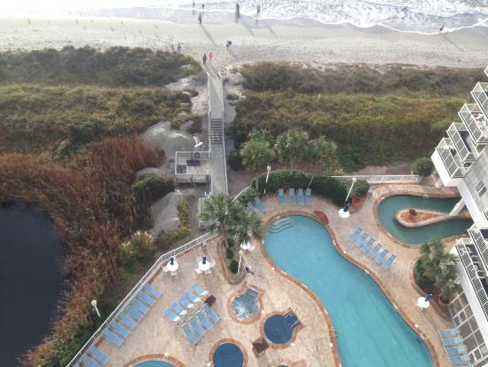 Wyndham Seawatch Plantation View From Our 15th Floor Corner Unit