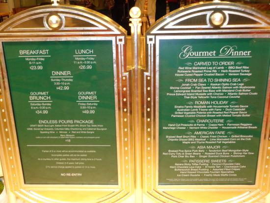 prices on our visit picture of the buffet at wynn las vegas rh tripadvisor com sg