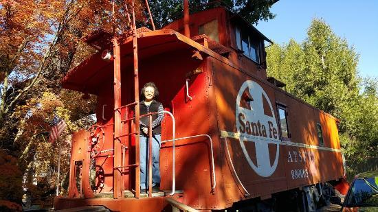 Nice, CA: Cute caboose
