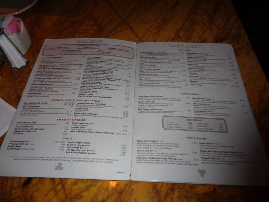 The Grand Lux Cafe Las Vegas Menu