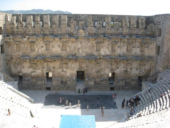 Aspendos Ruins and Theater: view from the top seats