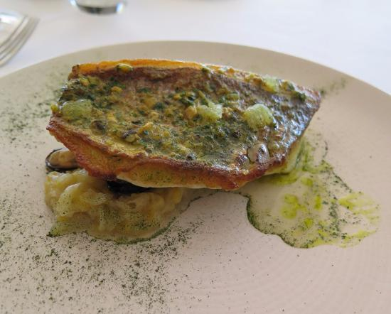 ARIA Restaurant: Pink Snapper with mussels (out of view)