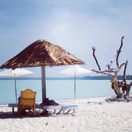 White sand beach@Minicoy,Lakshadweep,India