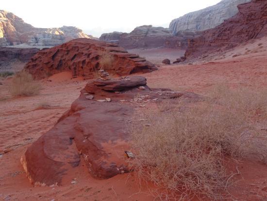 Jebel Khazali: all'uscita dal canyon